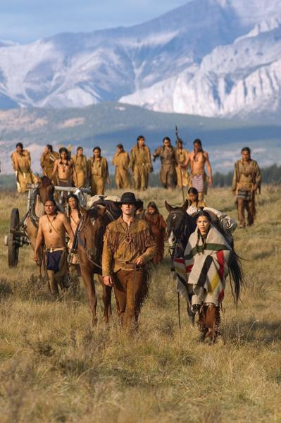 """Touted as a """"journey to the heart of the American Dream,""""the Steven Spielberg-produced Into the West is a six-week TNTminiseries that inspired critics and audiences everywhere to reexamine how whites impacted Native American life.– Courtesy TNT / By Chris Large –"""