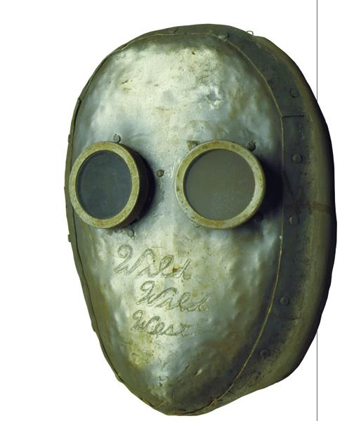 The Flaming Ghost Mask that was part of a villain's fireproof outfit, used in an elaborate plot to take over part of the United States.