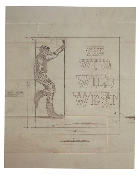 In this day and age, with the graphic novel a booming commodity, moviemakers interested in making the transition to the big screen would be wise to take a look at creator Michael Garrison's use of paneled freeze frame sketches at cliff-hanging commercial breaks and for the title sequence (see opening title format with James West figure at left).