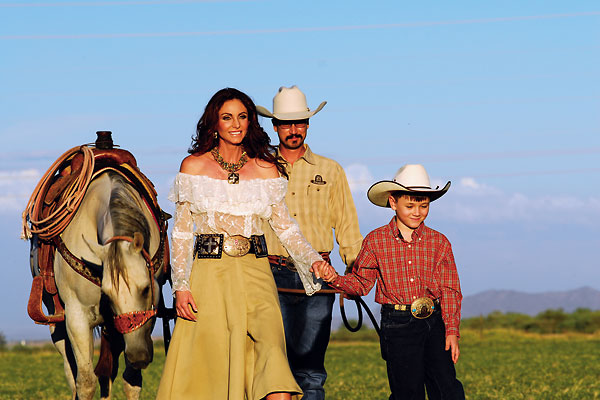 The Olson family is living the dream at John Wayne's former ranch property.