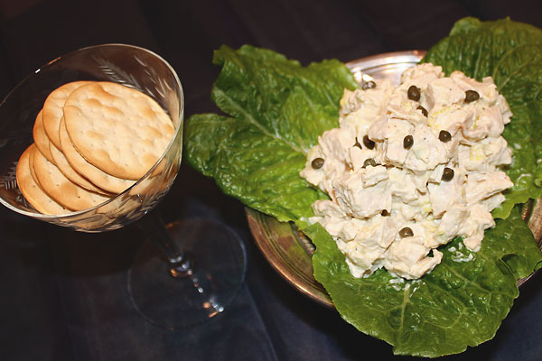 Tying the knot with traditional fare, including a chicken salad recipe.