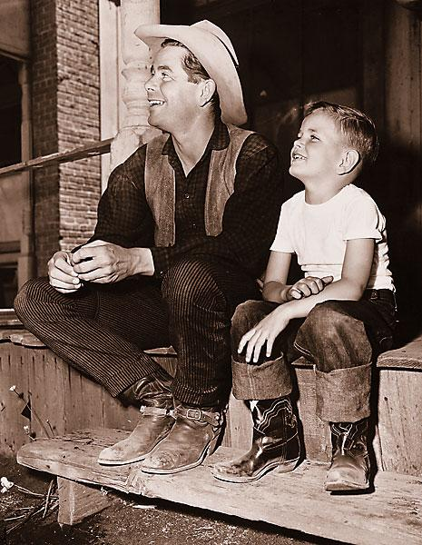"""""""I also wanted to tell the story of him not really having the capacity to be a dad.""""—Peter Ford, shown with his famous actor father, Glenn."""