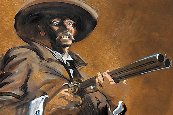 doc-holliday_bob-boze-bell_illustrations_ok-corral-fight