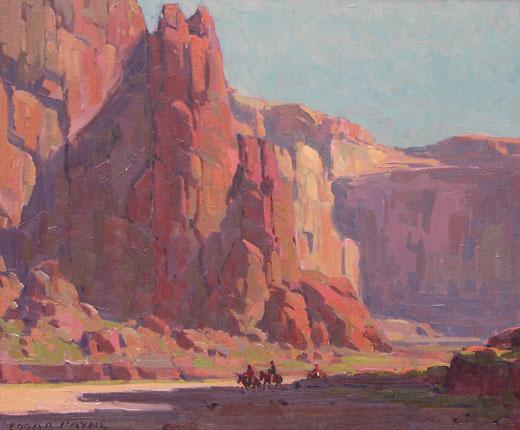 7. Navajo Riders (Canyon de Chelly), Edgar Payne (1882-1947), c. 1925 Oil on Canvas; Abe's Estimate: $500,000 to $750,000..– Private Collection, California –