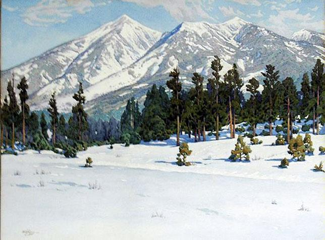 8. San Francisco Peaks, Gunnar M. Widforss  (1879-1934), 1932  Watercolor; Abe's Estimate: $75,000 to $100,000.– Museum of Northern Arizona, Flagstaff –