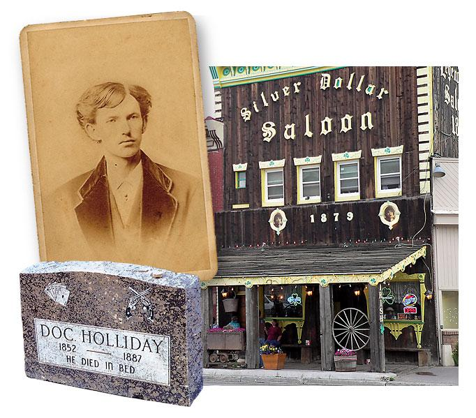 When Doc Holliday was arrested for shooting Billy Allen in Leadville in August 1884, one of the people who posted his bail was John G. Morgan, proprietor of the Board of Trade Saloon. Morgan had opened his saloon just the year before, and it is still open today, as the Silver Dollar. In Glenwood Springs, you can visit the gunfighter's grave.