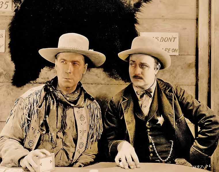 Hart as Wild Bill Hickok with Jack Gardner as Bat Masterson in the 1923 film.– All images courtesy Paul Andrew Hutton unless otherwise noted –