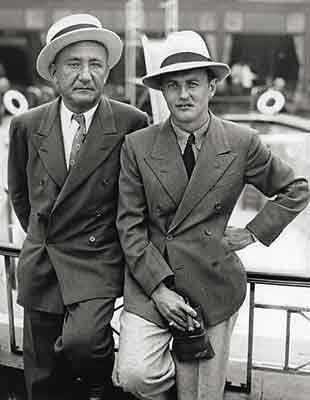 Joseph M. Schenck and Darryl F. Zanuck (at right), founders of 20th Century Pictures,  the year before the merger with Fox.