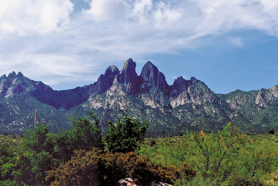 The distinctive Organ Mountains loom over Las Cruces and Old Mesilla. The Kid, no doubt, viewed their jagged visages many times in his short life.
