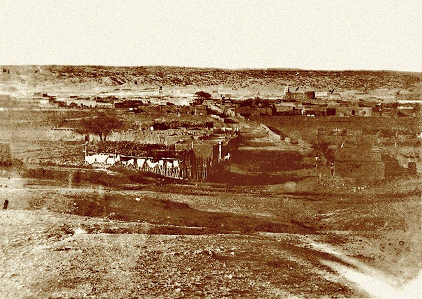 Santa Fe, New Mexico, as it appeared in 1876. The Kid spent several months in the local jail on Water Street. Today it's a parking lot.