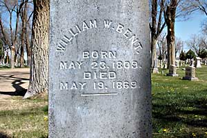 william bent gravestone