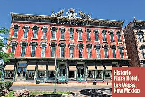 Historic-Plaza-Hotel,-Las-Vegas-New-Mexico