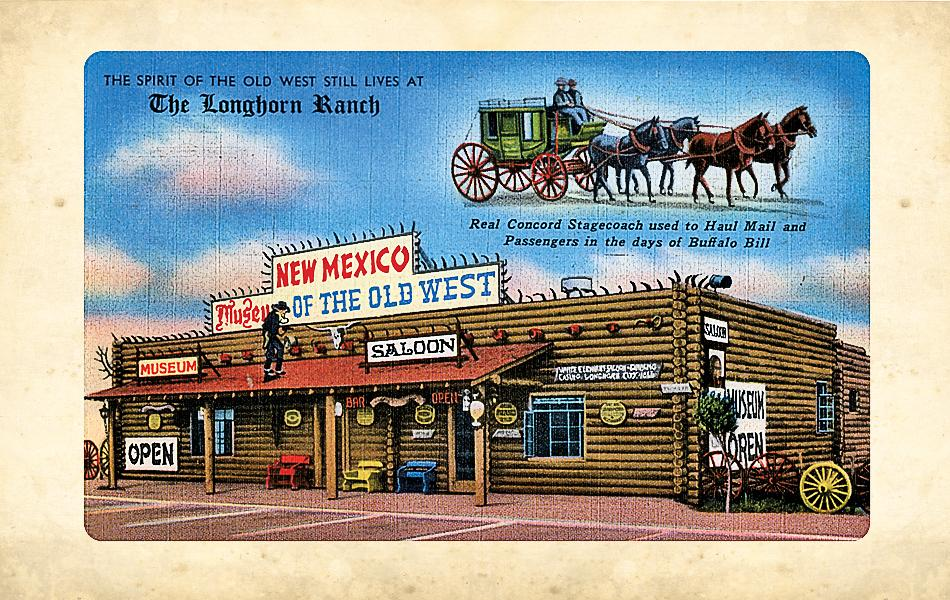 The Longhorn Ranch Saloon and Museum thrived for many years on Route 66 as a must stop for anyone who loved the Wild West. Today, only the sign remains.