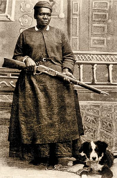 Stagecoach Mary FieldsThe 10-gauge shotgun-toting postal worker, Mary Fields, spent the first 30-odd years of her life in slavery before she became the first black woman to carry the U.S. mail, in her stagecoach, starting in 1895, when she was in her 60s.