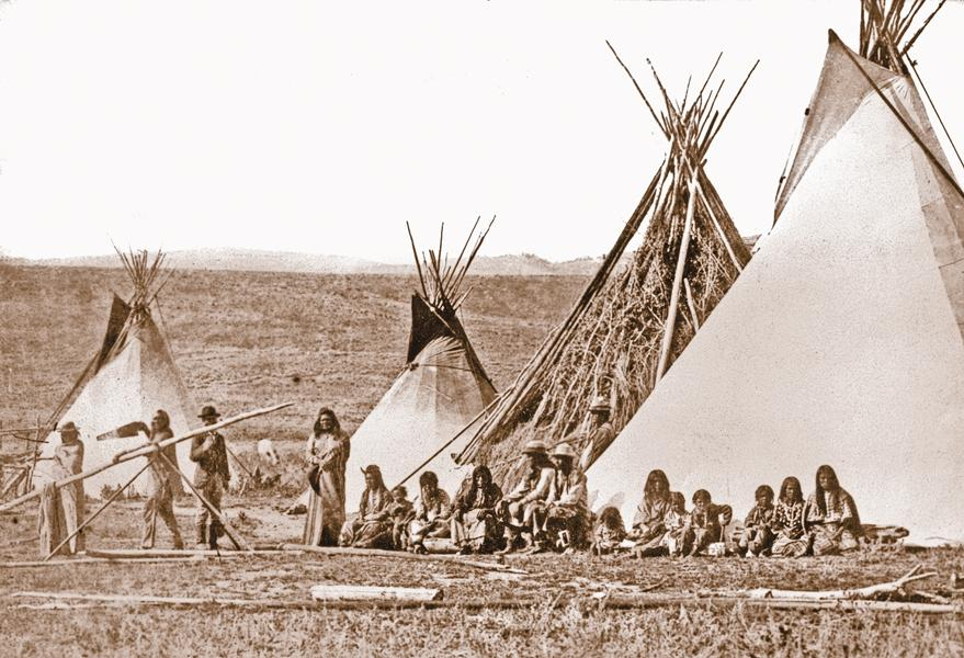 Chief Washakie's CampIn 1870, William Henry Jackson took photographs of Shoshone Chief Washakie's camp along the Sweetwater River, near Wyoming's Camp Stambaugh. His photos of the tipi village at South Pass are among the earliest taken prior to reservation.– True West Archives –