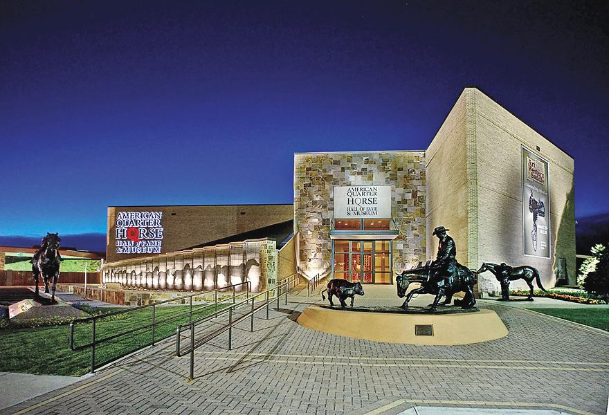 #4 Amarillo, TexasThe American Quarter Horse Hall of Fame and Museum (left) is headquartered in Amarillo. Other major museums in the Panhandle city include the Kwahadi Museum of the American Indian and the Panhandle-Plains Historical Museum, in nearby Canyon, Texas.– Courtesy Amarillo Convention and Visitor Council –
