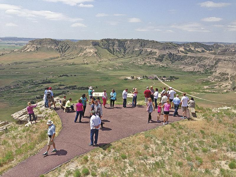 #8 Scotts Bluff, NebraskaWestern heritage is celebrated in the Oregon Trail town of Scottsbluff, Nebraska, in many ways, including at the Scotts Bluff National Monument, where visitors can view Scotts Bluff and Chimney Rock from an overlook.– Courtesy Scottsbluff/Gering –