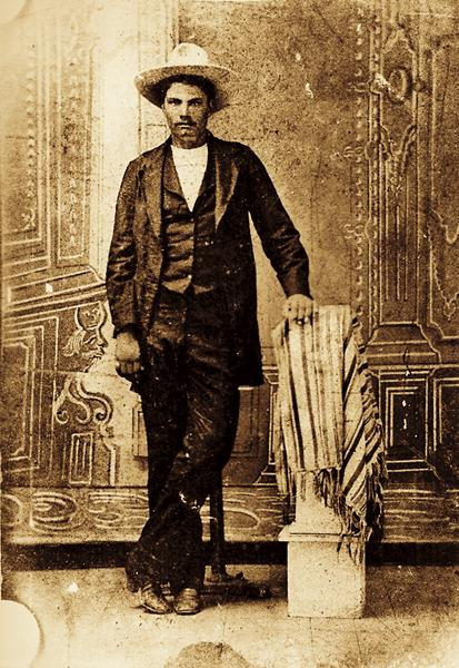 John Wesley Hardin (above) claimed that, while he was celebrating his 21st birthday at a saloon in Comanche, Texas, his friend yelled that Brown County Deputy Sheriff Charles Webb was drawing his gun. Hardin reacted and shot Webb dead. The gunfighter was sentenced to 25 years, but served only 16 years. He was released on February 17, 1894, pardoned of his crime and earned his license to practice law.– Courtesy Robert G. McCubbin Collection –