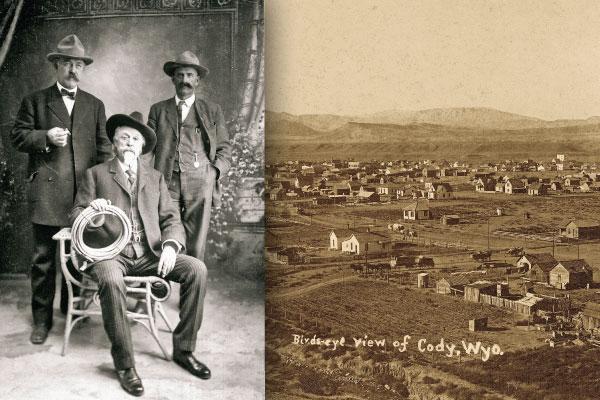 Cody-WY_Power-brokers-flanking-Buffalo-Bill-Cody_1910
