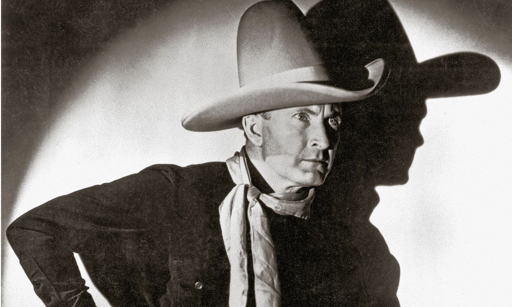 Tim McCoy always cut a dashing figure in his more than 80 Westerns, and nobody wore bigger hats with bigger brims than the colonel. – All photos True West archives; contemporary hat photos courtesy named hatmaker –
