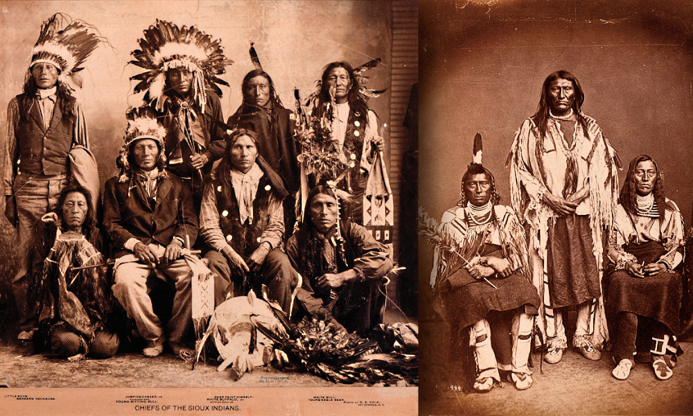 A group of Sioux chiefs in Hot Springs, South Dakota. Historic Photographs