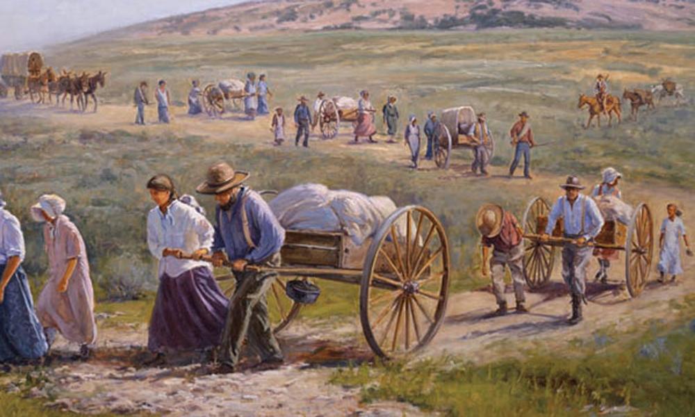 Mormon Church Handcart...