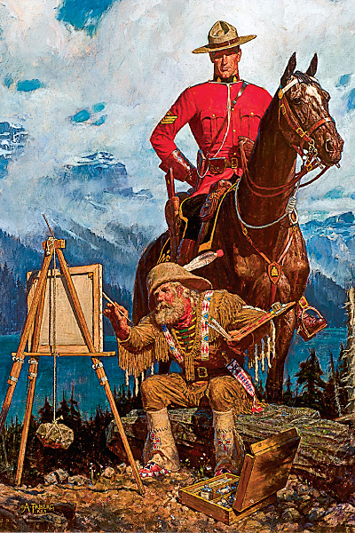 Expert Criticism by Arnold Friberg, known for his artworks of the Royal Canadian Mounted Police, $45,000