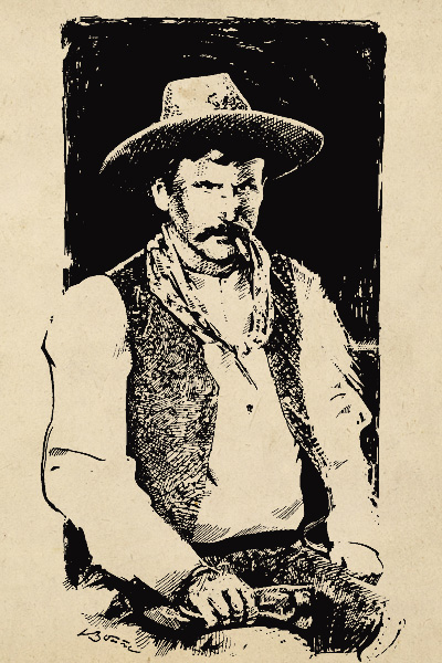 """Keeping the Peace Lawman James East and his deputy keep the peace at the funeral, attended by both friends and enemies, as four men are buried that day. Horrified that her husband might be buried next to the three dead LS Ranch cowboys, Sarah Sheets insists Jesse have a separate ceremony and that his body be buried a significant distance from the others. The family reburies his remains in Roswell, New Mexico, in 1928. The grave markers of the others state they were """"ill met by moonlight."""""""