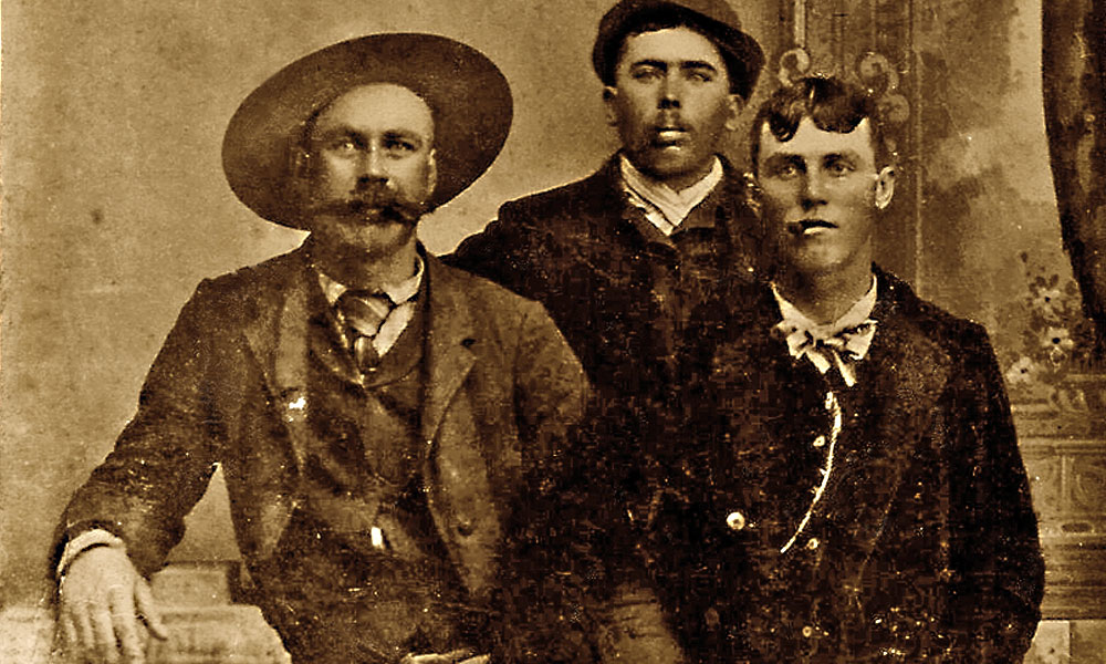 Troublemakers Henry C. Goodman, Gus Heffron and Davy Crockett (from left) pose together in Trinidad, Colorado, during the early 1870s. – Courtesy Chuck Parsons –