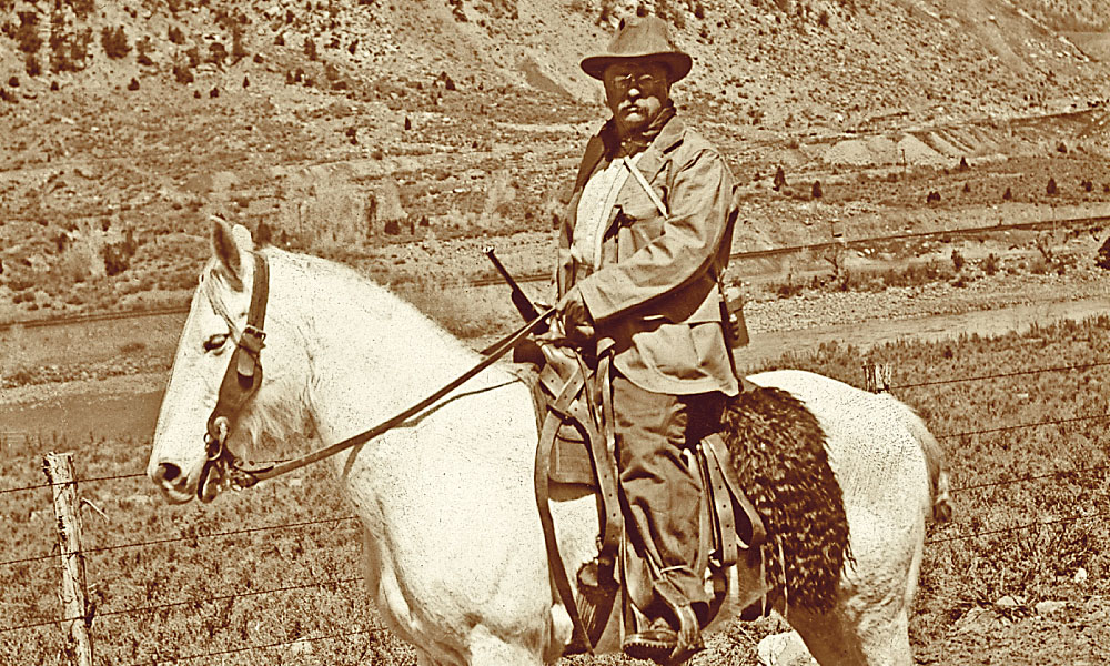 Theodore Roosevelt definitely felt a zest for ranch life. At the same time, he was admittedly a poor roper. While breaking horses, he received injuries that ranged from a broken shoulder to cracked ribs—he even had a horse fall backward on him. – Courtesy Library of Congress –