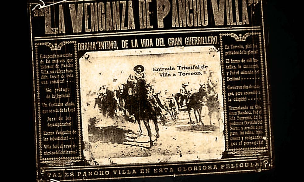 After an exhaustive two-year, multi-country search, documentary filmmaker Gregorio Rocha stumbled on a treasure at the University of Texas in El Paso. He had found, not the original film, but another lost film, La Venganza de Pancho Villa (The Revenge of Pancho Villa), that shared numerous unknown scenes from the 1914 film. – Courtesy University of Texas in el Paso / Félix and Edmundo Padilla Collection –