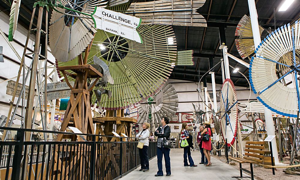 The American Windpower Museum in Lubbock is a living history center celebrating the windmill heritage of the West with over 200 models, many of them rare and unique, on display in the great hall and outdoors on the museum grounds. – Courtesy Visit Lubbock –