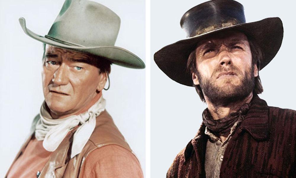 Western Stars John Wayne and Clint Eastood