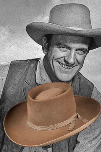 The 3X beaver Stetson cowboy hat worn by James Arness, the heroic marshal in Gunsmoke, bid at $7,000.