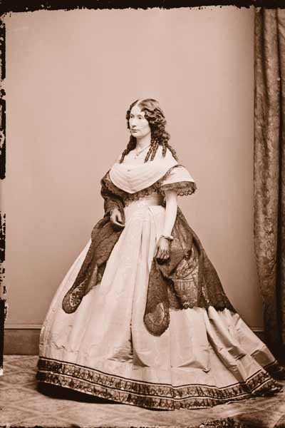 Although some naysayers claim the blood stains on Laura Keene's dress were not made by President Abraham Lincoln after his assassination, the public did demand to see the dress on a constant basis. Ford's Theatre in Washington, D.C., believes in its history enough to publicly display it. The actress is shown here after the assassination.