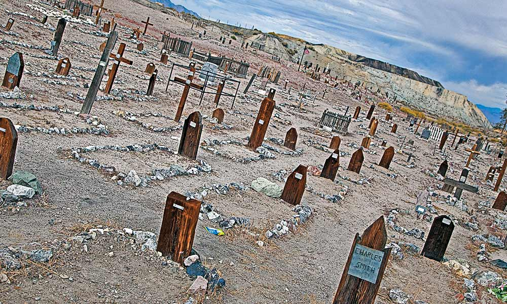 Tonapah's Historic Mining Park and its adjacent cemetery are both well-worth walking through on a self-guided tour of the mining town. – Courtesy TravelNevada –