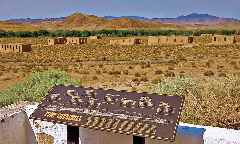 Forty miles east of Carson City via U.S. Highways 50 and 95A is Fort Churchill State Historic Park. In 1860, the Pyramid Lake War against the local Paiutes prompted the construction of the fort to protect the Pony Express and early settlers.