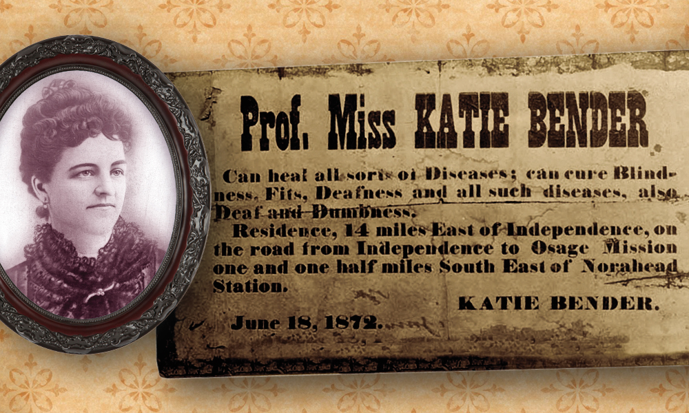 Katie Benders 1872 advertisement as a healer