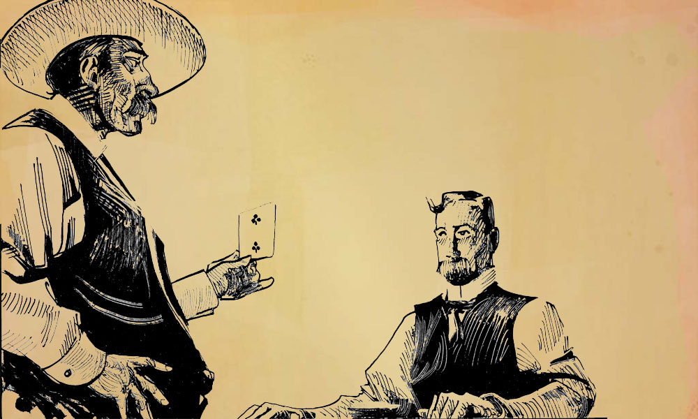 Depiction of Dealer with Card