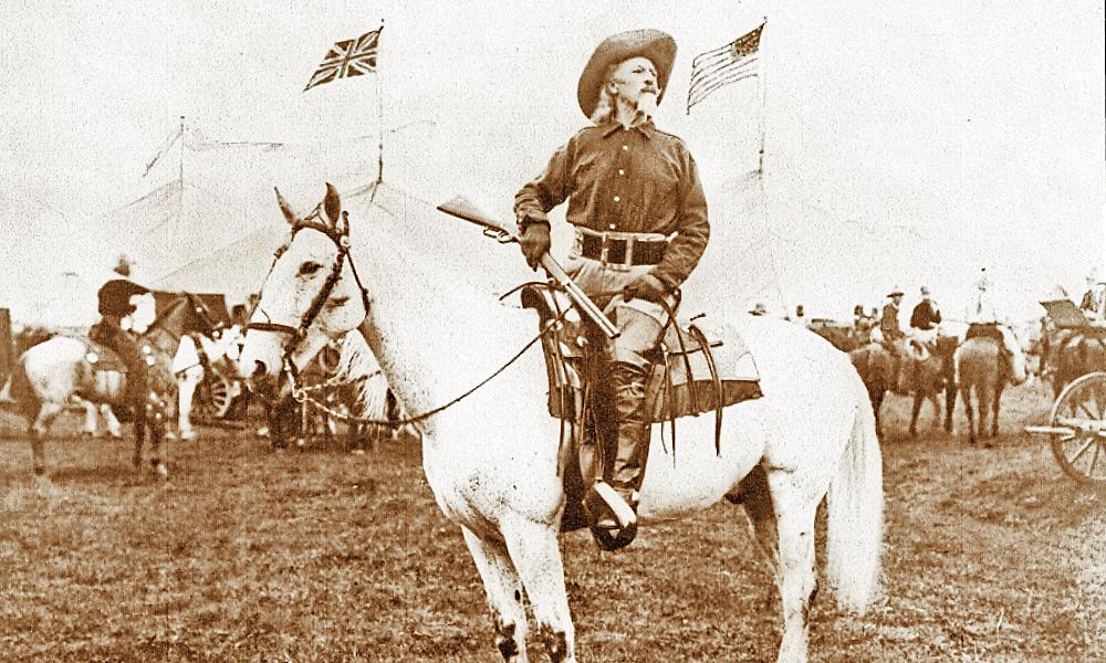 Buffalo Bill Cody and horse, Isham