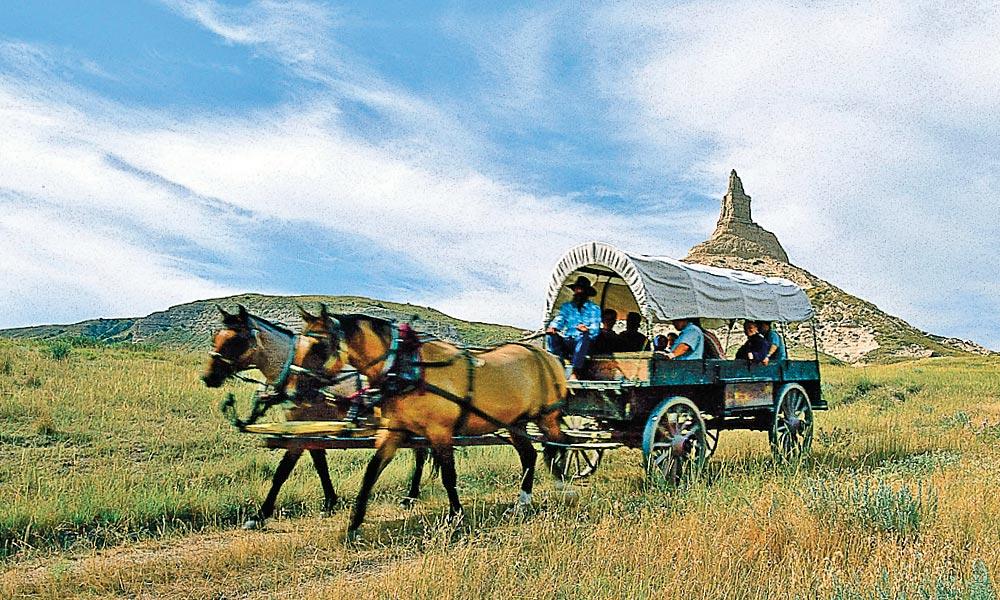 Scotts Bluff wagon ride