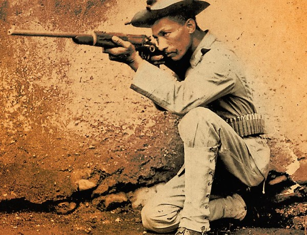 By the early 20th century, many black cavalrymen and their comrades in the infantry had earned enviable reputations as crack marksmen and professional, no-nonsense combat troops – Courtesy Anthony Powell Collection –