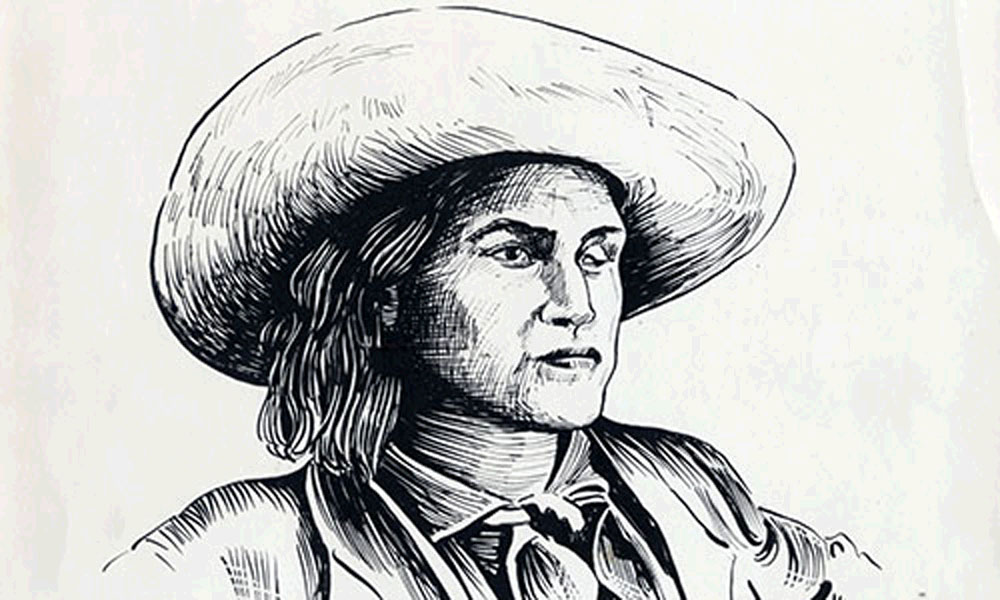 Drawing of Charley Parkhurst