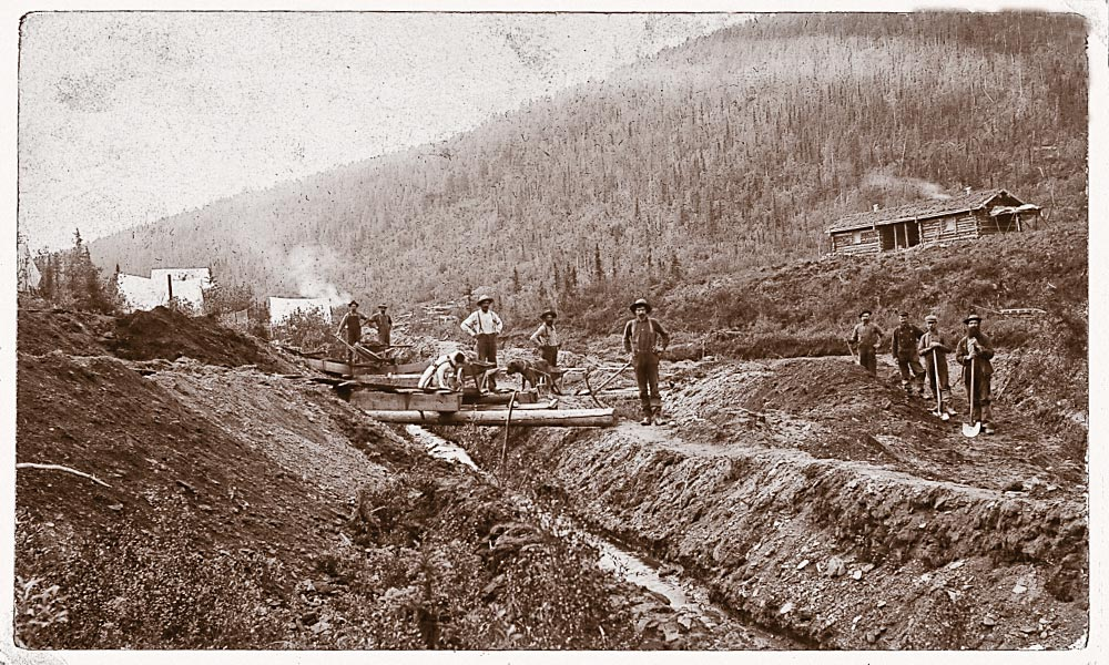 These miners survived the dangers that had killed others on their paths to the gold fields. They stand next to a flume at a gold mining camp in El Dorado, California, circa 1848-53. – El Dorado Courtesy Library of Congress / All other images True West archives –