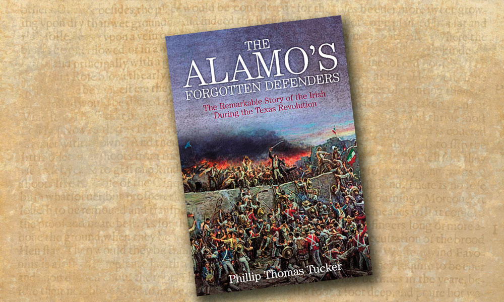 South Carolina born, Scotch-Irish Alamo Commander Lt. Col. William Barret Travis's dedication to revolution and independence is a theme extensively explored by Philip Thomas Tucker in The Alamo's Forgotten Defenders—The Remarkable Story of the Irish During the Texas Revolution. – Travis's Vigil Courtesy Artist Gary Zaboly –