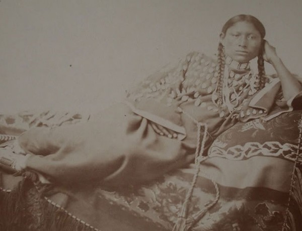A Photograph by Will Soule of a woman named Mon-No-Na; thought to be Monahsetah.