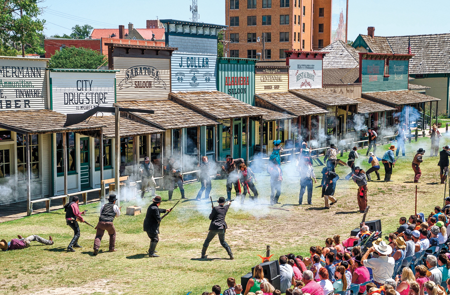 Dodge City's Boot Hill Museum holds entertaining gunfights along Front Street twice a day throughout the summer, while inside exhibitions on gambling, guns and American Indian history provide valuable insights into life on the Kansas frontier. – Photos Courtesy Boot Hill Museum –
