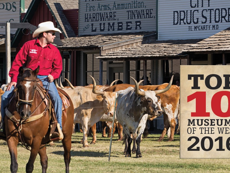 Boot Hill Museum is the premier heritage destination in Dodge City, Kansas. A traditional longhorn cattle drive through town and past the museum's Front Street is a highlight of the 12-day Dodge City Days celebration, held every year at the end of July.  – Max McCoy –
