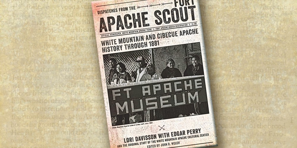 Dispatches from the Fort Apache Scout is a finely edited compilation of essays published between 1973 and 1977, written by Lori Davisson, Edgar Perry and the original staff of the White Mountain Apache Cultural Center. – Edward S. Curtis/Library of Congress –