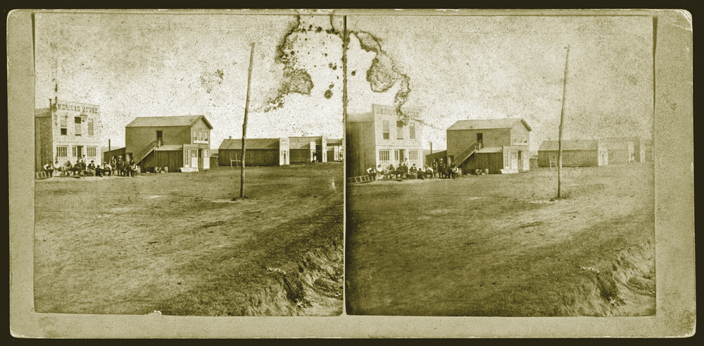 Ben Thompson was arrested in Ellsworth, Kansas, but the claim that Wyatt Earp deserves the credit is unsupported. Just four years after Thompson's arrest, Alexander Gardner photographed the Kansas cowtown (see Main Street photos above). – Courtesy Library of Congress –